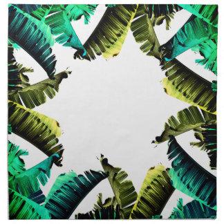 Tropical Foliage   Banana Leaves Napkin