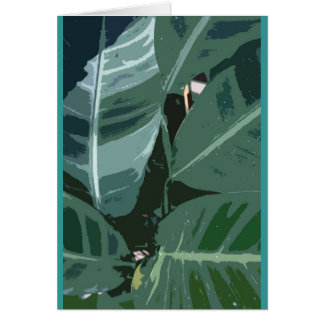 Tropical foliage card