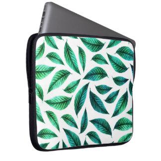 Tropical Foliage Pattern Laptop Sleeve