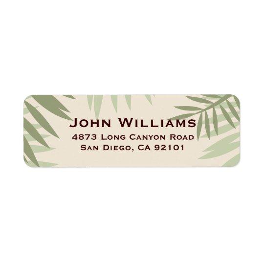 Tropical Foliage Return Address Label