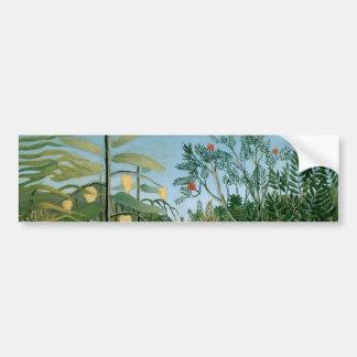 Tropical Forest, Henri Rousseau Bumper Sticker