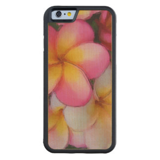 Tropical Frangipani Plumeria Beach Flowers Carved Maple iPhone 6 Bumper Case