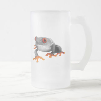 Tropical Frog Mug..! Frosted Glass Beer Mug