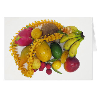 Tropical Fruit and Lei Card