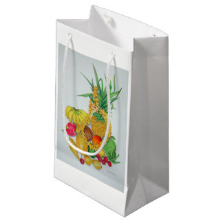 Tropical Fruit and Lei Small Gift Bag