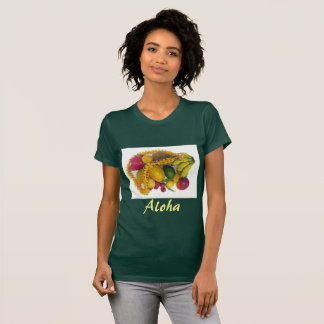 Tropical Fruit and Lei T-Shirt