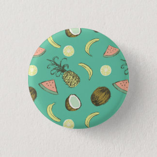 Tropical Fruit Doodle Pattern 3 Cm Round Badge