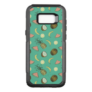 Tropical Fruit Doodle Pattern OtterBox Commuter Samsung Galaxy S8+ Case