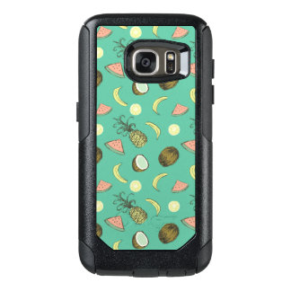 Tropical Fruit Doodle Pattern OtterBox Samsung Galaxy S7 Case