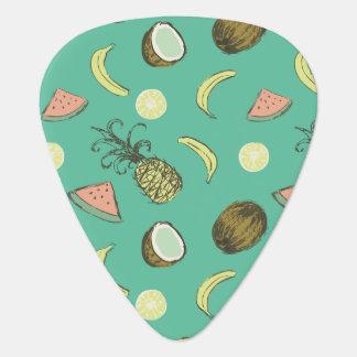 Tropical Fruit Doodle Pattern Plectrum