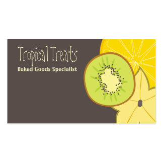 tropical fruit food catering baking business ca... business card