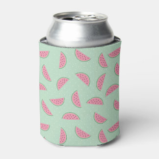 Tropical Fruit Paint Splatter Pattern Can Cooler