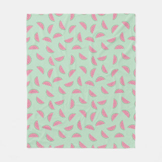 Tropical Fruit Paint Splatter Pattern Fleece Blanket