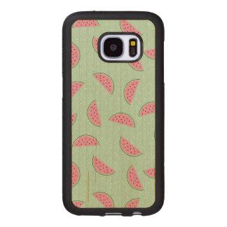 Tropical Fruit Paint Splatter Pattern Wood Samsung Galaxy S7 Case