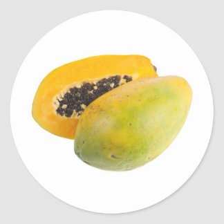 Tropical fruit - Papaya Classic Round Sticker