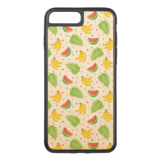 Tropical Fruit Polka Dot Pattern Carved iPhone 8 Plus/7 Plus Case