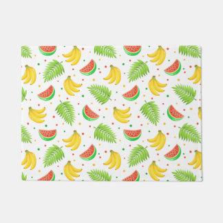Tropical Fruit Polka Dot Pattern Doormat