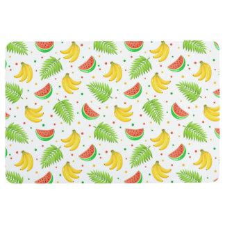 Tropical Fruit Polka Dot Pattern Floor Mat