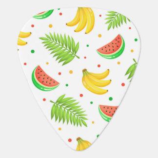 Tropical Fruit Polka Dot Pattern Plectrum