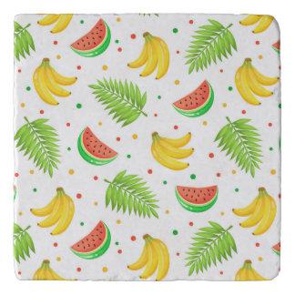 Tropical Fruit Polka Dot Pattern Trivet
