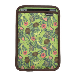 Tropical Fruit Sketch on Green Pattern iPad Mini Sleeve