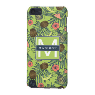 Tropical Fruit Sketch on Green Pattern iPod Touch (5th Generation) Cover