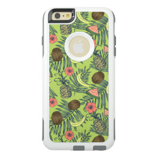 Tropical Fruit Sketch on Green Pattern OtterBox iPhone 6/6s Plus Case