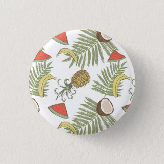 Tropical Fruit Sketch Pattern 3 Cm Round Badge