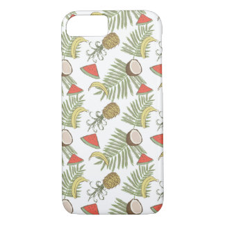 Tropical Fruit Sketch Pattern iPhone 8/7 Case