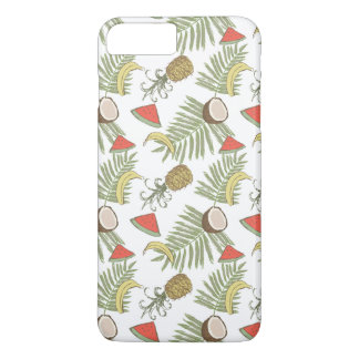 Tropical Fruit Sketch Pattern iPhone 8 Plus/7 Plus Case