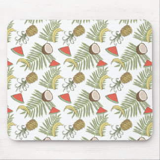 Tropical Fruit Sketch Pattern Mouse Pad