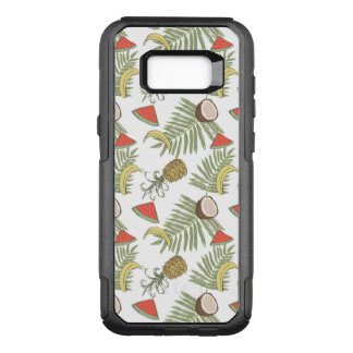 Tropical Fruit Sketch Pattern OtterBox Commuter Samsung Galaxy S8+ Case
