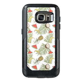 Tropical Fruit Sketch Pattern OtterBox Samsung Galaxy S7 Case