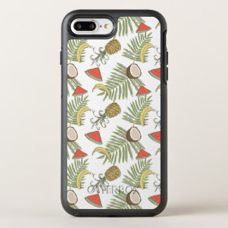 Tropical Fruit Sketch Pattern OtterBox Symmetry iPhone 8 Plus/7 Plus Case