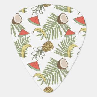 Tropical Fruit Sketch Pattern Plectrum