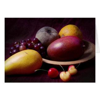 Tropical Fruit Still Life Card