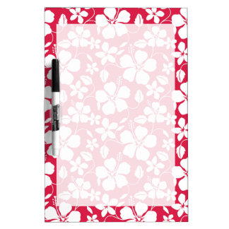 Tropical Fuschia Floral Pattern Dry Erase Board