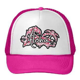 Tropical Fuschia Hibiscus; Aloha Trucker Hat
