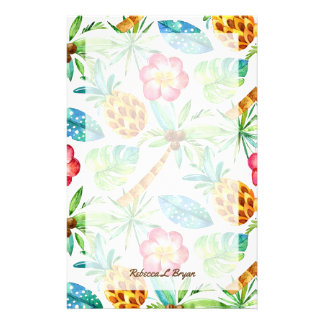 Tropical Garden Foliage Pattern Stationery