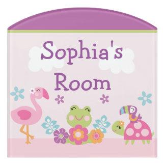 Tropical Garden Frog Kid's Nursery Door Sign