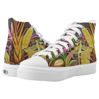 Tropical Garden High Tops Shoes Printed Shoes