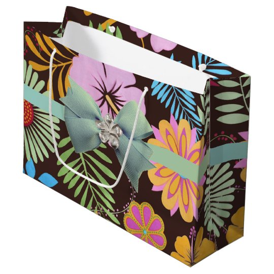 Tropical Garden Large Gift Bag