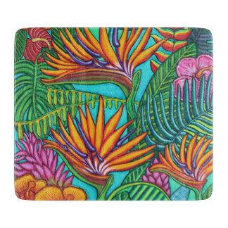 Tropical Gems Glass Cutting Board