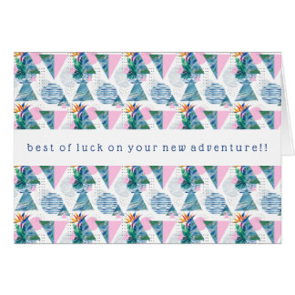 Tropical Geometric Pattern Card