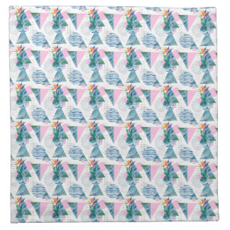 Tropical Geometric Pattern Napkin
