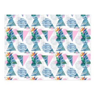 Tropical Geometric Pattern Postcard