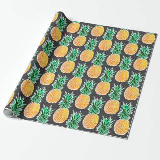 Tropical Geometric Pineapple Bold Wrapping Paper