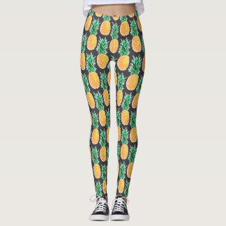 Tropical Geometric Pineapple Leggings