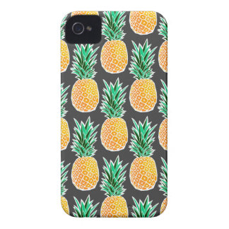 Tropical Geometric Pineapple Pattern iPhone 4 Case