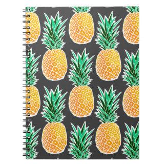 Tropical Geometric Pineapple Pattern Notebooks